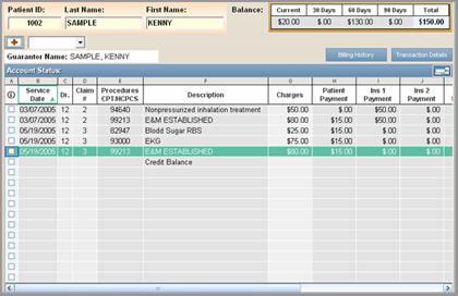 Financial Modules - Account Status