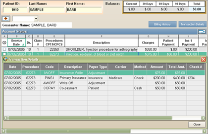 Financial Modules - Account Status
